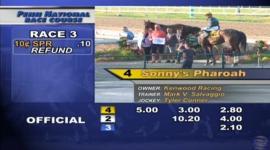 Sonny's Pharoah in winner's circle at Penn National on 7-20-16